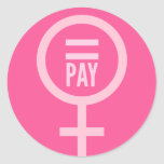Los salarios de las mujeres pegatinas redondas