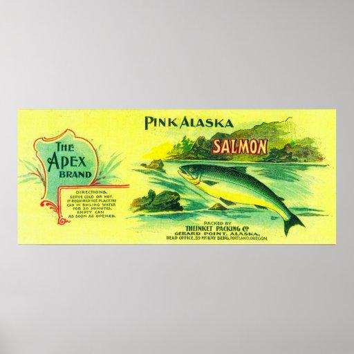 Los salmones de Apex pueden el punto de LabelGerar Póster