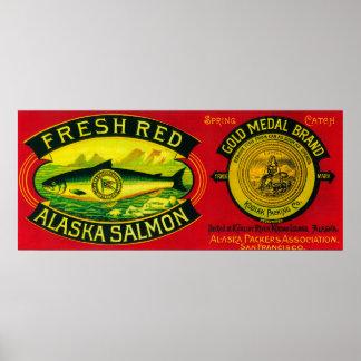 Los salmones de la medalla de oro pueden la isla d posters