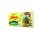 Los salmones del vencedor pueden la bahía de Label Impresión En Tela