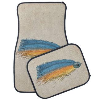 Los salmones FlyFishing del arte del señuelo Alfombrilla De Coche