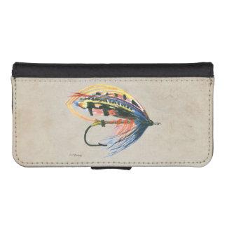 Los salmones FlyFishing del arte del señuelo Funda Tipo Billetera Para iPhone 5