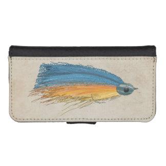 Los salmones FlyFishing del arte del señuelo Fundas Billetera De iPhone 5
