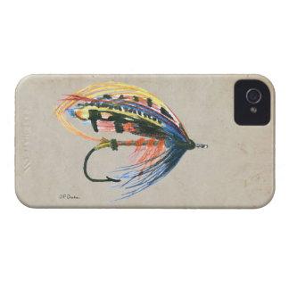 Los salmones FlyFishing del arte del señuelo iPhone 4 Case-Mate Carcasas