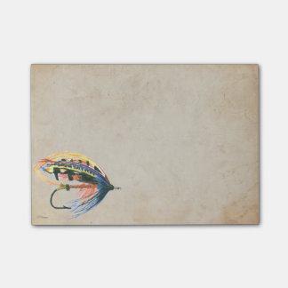 Los salmones FlyFishing del arte del señuelo Nota Post-it®