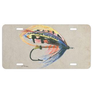 Los salmones FlyFishing del arte del señuelo Placa De Matrícula