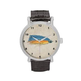 Los salmones FlyFishing del arte del señuelo Reloj
