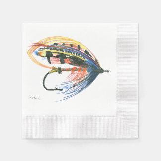 Los salmones FlyFishing del arte del señuelo Servilleta Desechable
