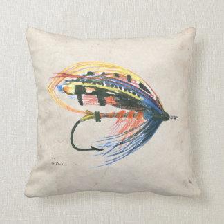Los salmones FlyFishing del arte del señuelo vuela Cojin