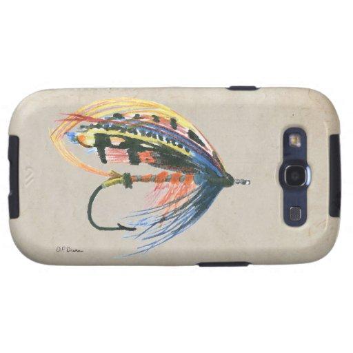 Los salmones FlyFishing del arte del señuelo vuela Galaxy S3 Funda