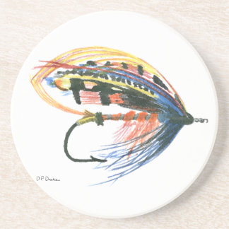 Los salmones FlyFishing del arte del señuelo vuela Posavasos Manualidades