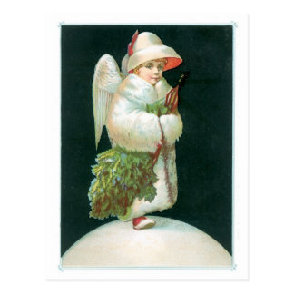 Los saludos de la estación - ángel del navidad tarjetas postales