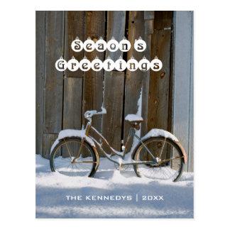 Los saludos de la estación - bicicleta vieja tarjetas postales