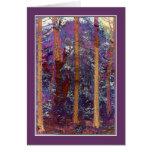 Los saludos de la estación - bosque púrpura en sol felicitaciones
