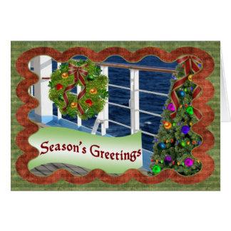 Los saludos de la estación, cubierta adornada del tarjeta de felicitación