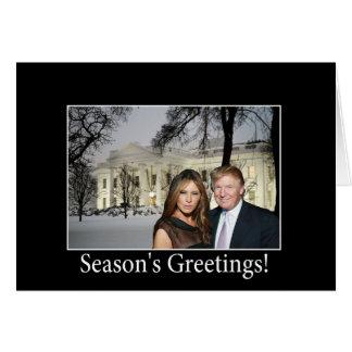 Los saludos de la estación de Donald y de Melania Tarjeta De Felicitación