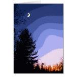 Los saludos de la estación de la luna de la puesta tarjeton