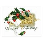 Los saludos de la estación del navidad del vintage postales