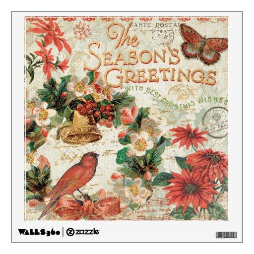 Los saludos de la estación del navidad del vintage vinilo