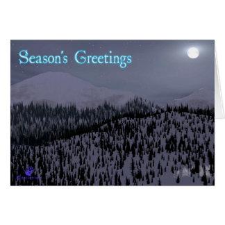 Los saludos de la estación - noche fría en Idaho Tarjeta De Felicitación