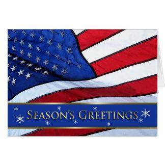 Los saludos de la estación patriótica del navidad tarjeta de felicitación