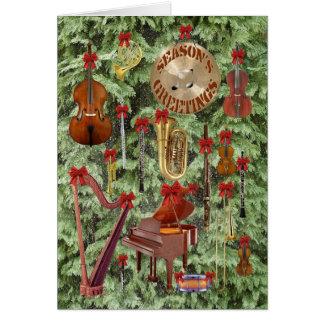 Los saludos de la estación sinfónica tarjeta de felicitación