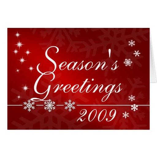 Los saludos de la estación - tarjeta de Navidad