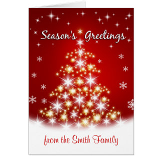 Los saludos de la estación - tarjetas de Navidad p