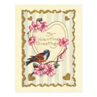 Los saludos de la tarjeta del día de San Valentín  Tarjeta Postal