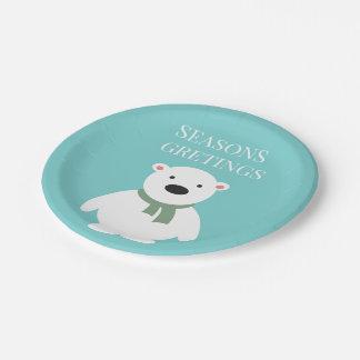 Los saludos de las estaciones llevan las placas de plato de papel de 7 pulgadas