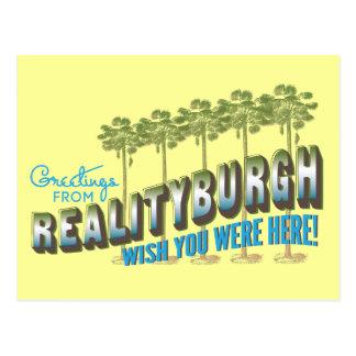 Los saludos de Realityburgh - deseo usted estaba Tarjetas Postales