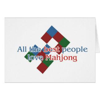 Los saludos del amante de Mahjong Tarjeta De Felicitación
