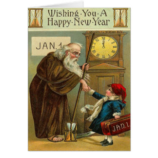 Los saludos del Año Nuevo del vintage Felicitación