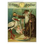 Los saludos del Año Nuevo del vintage Tarjeta