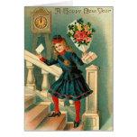 Los saludos del Año Nuevo del vintage Tarjetas