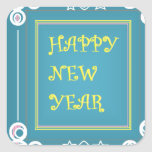 Los saludos del Año Nuevo Pegatina Cuadrada