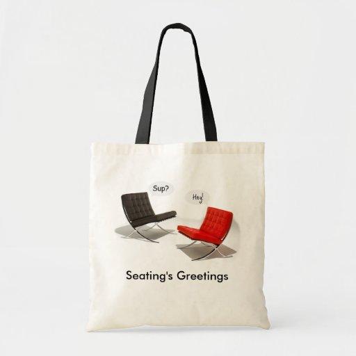 Los saludos del asiento bolsa tela barata