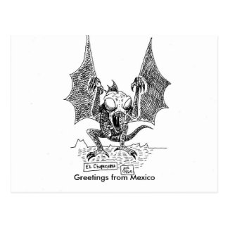 Los saludos del Chupacabra de México Postal