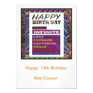 Los saludos del feliz cumpleaños cambian o invitaciones magnéticas