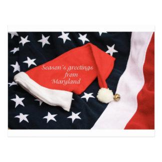 Los saludos Maryland de la estación americana Postal