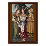 Los santos Inés y Dorothy Kunigunde por Cranach Tarjetas