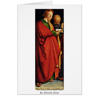 Los santos Juan y Peter de Albrecht Dürer Felicitaciones