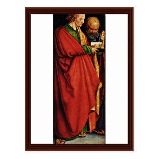 Los santos Juan y Peter de Albrecht Dürer Postal