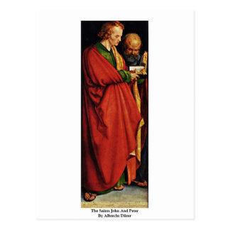 Los santos Juan y Peter de Albrecht Dürer Tarjetas Postales