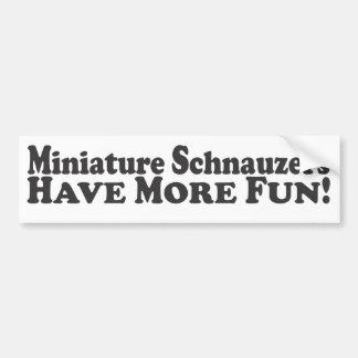 ¡Los Schnauzers miniatura se divierten más! - Pali Pegatina Para Auto