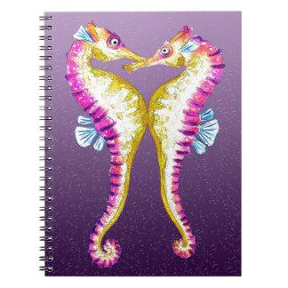 Los Seahorses besan púrpura Libreta
