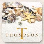 Los Seashells personalizaron los prácticos de cost Posavasos De Bebida
