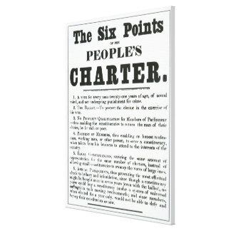 Los seis puntos de la carta de la gente impresion en lona