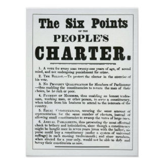 Los seis puntos de la carta de la gente posters