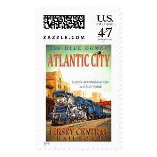 Los sellos azules del tren del cometa